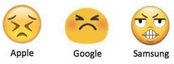apple google samsung emojis only