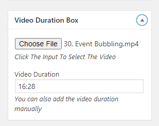 video duration meta box