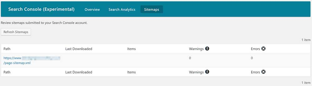 search-console-sitemaps